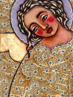 this angel speaks to me. artist: Julia Ann Bowden