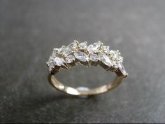I love this band with a simple solitaire engagement ring