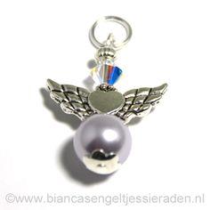 Hangertje Engeltje Vlinder Libelle Crystal Lavendel Crystal AB www.biancasengeltjessieraden.nl