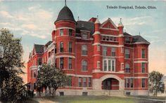 Ohio postcard Toledo, Toledo Hospital