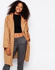 Monki Cocoon Coat - Beige #coat #covetme