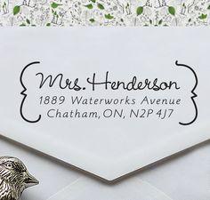 Custom Address Stamp - Eco Friendly, gifts for wedding, housewarming, etsy labels, return address stamp - ea1035. $19.95, via Etsy.