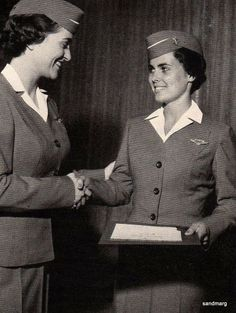 American Airlines Stewardess College, Fort Worth Texas Graduation 1950's