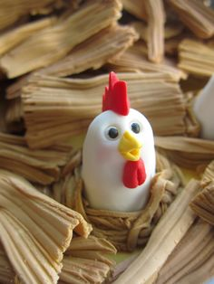 Chicken in the Hay Stack Cupcake Toppers by mimicafe Union