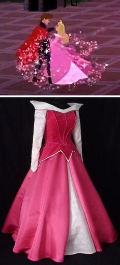 adult custom pink sleeping beauty dress #disney #sleepingbeauty #wedding