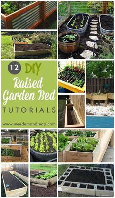 12 DIY Raised Garden Bed Tutorials || Weed 'Em and Reap