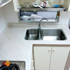Metallic Epoxy Countertop Design Ideas Previously a badly stained and cracked granite countertop, it Marble Floor Kitchen, Kitchen Flooring, Epoxy Countertop, Granite Countertops, Sump Pump Cover, Door Picture, Kitchen Doors, Diy Garden Decor, Singapore