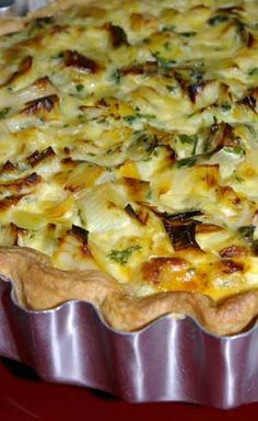 Smoked haddock & leek tart - delicious, simple recipe. I added fresh chives instead of parsley & used double cream. I used my own short crust pastry recipe & blind baked the pastry case as instructed.