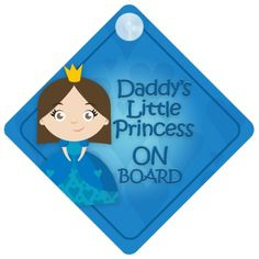 DLP014 Daddys Little Princess On Board Car Sign New Baby  Child Gift  Present  Baby Shower Surprise >>> You can find more details by visiting the image link.