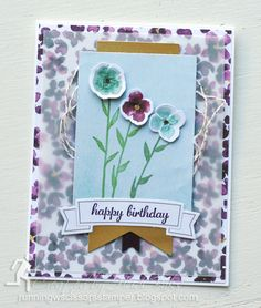 Bits and Pieces of One Great Year December 2015 Paper Pumpkin kit & Stampin' Up Painted Petals, Express Yourself, Painted Blooms DSP by #runningwscissorsstamper