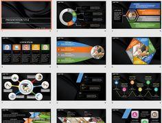 Black Metallic PowerPoint by SageFox