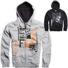 2013 Fox Racing Evanite Sherpa Zip Casual Motocross MX Apparel Insulated Hoody
