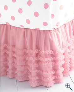 tulle bedskirt - would also be great for a table skirt for a ballerina birthday