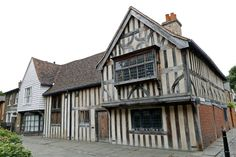"""Ancient House in Walthamstow Village, Church Lane, Walthamstow London, this 15th-century timber-framed """"hall house"""" has been dubbed """"The Ancient House"""" by locals and is opposite St Mary's Church."""