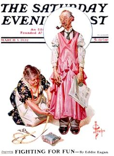 Living Mannequin from March 5, 1932   Saturday Evening Post  J. C. Leyendecker