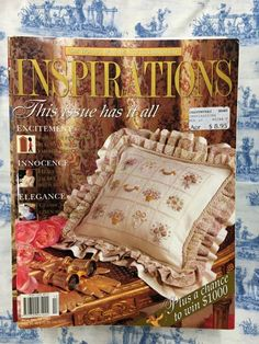 Inspirations Magazine: The World& most beautiful Embroidery Issue 13 Inspirations Magazine, World's Most Beautiful, Embroidery, Classic, Ebay, Derby, Needlepoint, Classic Books, Crewel Embroidery