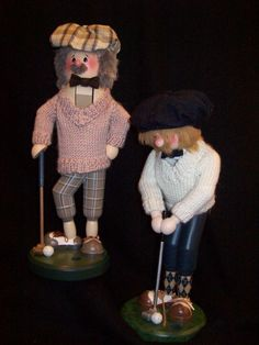 Zim's Heirloom Collectible Nutcrackers ~ Golfers  www.thewhitehurstcompany.com