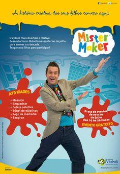"""Para alegrar as férias da criançada, o Shopping Butantã preparou um espaço interativo com o conceito do famoso programa """"Mister Maker"""", do canal infantil Discovery Kids."""