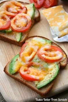 The only thing missing from your avocado toast is tomatoes (and melted cheese). Get the recipe from Tastes Better From Scratch.   - Delish.com
