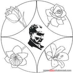 94 En Iyi Atatürk Köşesi Görüntüsü Learning Coloring Books Ve