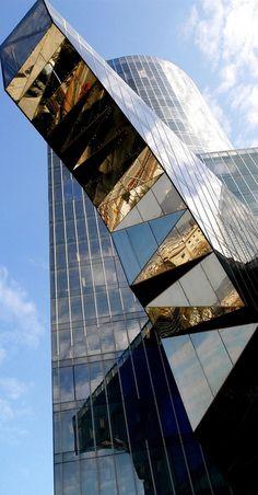 Headquarters Grupo Gas Natural, Barcelona Spain  architecture  mirrors