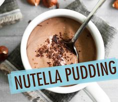 Nutella Recipes: tons of them! {Nutella is healthy AND delish! Just Desserts, Delicious Desserts, Dessert Recipes, Yummy Food, Yummy Yummy, Delish, Easy Pudding Recipes, Nutella Recipes, Bread Recipes