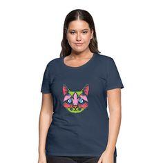 Geschenke Shop | Cat Color 006 - Frauen Premium T-Shirt T Shirt Designs, Shirt Diy, Cat Colors, T Shirts For Women, Cats, Shopping, Fashion, Gifts For Cats, Funny Women