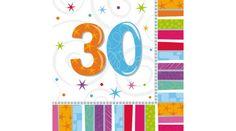 30. színes szülinapi szalvéta, Nicol Party Kellék Bolt Symbols, Letters, Art, Art Background, Kunst, Letter, Performing Arts, Lettering, Glyphs