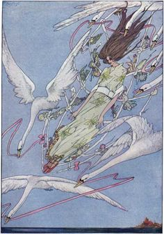 """Yeah, I'm going through a Harry Clarke phase. noraanddora: """" The Fairy Tales of Hans Christian Andersen by Harry Clarke (via Grandma's Graphics) """" Harry Clarke, Andersen's Fairy Tales, Irish Art, Hans Christian, Pen Art, Arts And Crafts Movement, Poster Size Prints, Art Nouveau, Art Deco"""