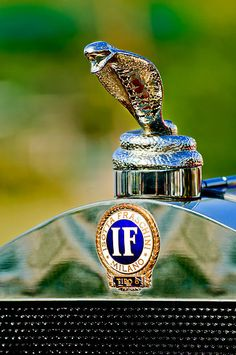 1924 Isotta-fraschini Tipo 8 Torpedo Phaeton Hood Ornament - Car Images by Jill Reger Retro Cars, Vintage Cars, Antique Cars, Car Badges, Car Logos, Logo Autos, Car Symbols, Car Bonnet, Car Radiator