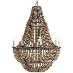 Currey and Company Falconwood Chandelier 9502