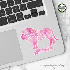 Phi Mu | Small Lion Decal | Sorority Big Little Reveal Gift | Official Licensed Product | PHM001