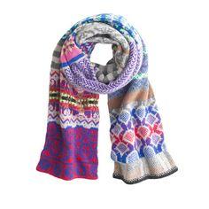 J.Crew - Eribé collector's scarf in Fair Isle