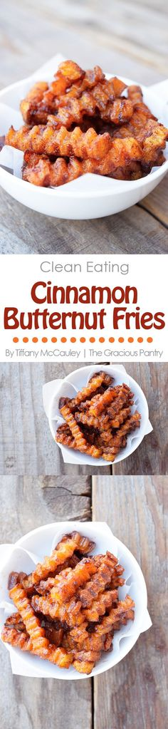 Clean Eating Recipes | Cinnamon Butternut Squash Fries Recipe | Healthy Snack Recipes