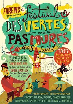 Flavia Zorrilla Drago | Poster Festival de vertes et des pas mures (2014)