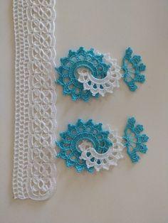 Crochet with New Styl Lace Model Crochet Towel, Crochet Motif, Crochet Doilies, Crochet Flowers, Crochet Lace, Crochet Stitches, Crochet Crafts, Baby Knitting Patterns, Crochet Patterns