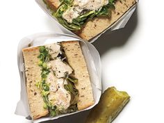Herbed Chicken Salad Sandwiches   Save money and eat healthier with these souped-up sandwiches.