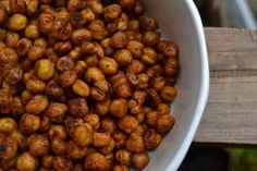 roasted chickpeas! Flavorful, fun to munch on, and a healthy snack!   from 'a rented kitchen' food blog