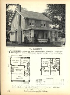 The CORTHER - Home Builders Catalog: plans of all types of small homes by Home Builders Catalog Co.  Published 1928