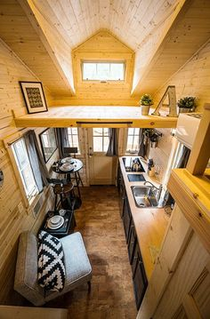 Hood Tiny House Village now offers five tiny homes as overnight rentals. Photos, video, what this does for the tiny house movement and more! Tiny House Swoon, Small Tiny House, Tiny Houses For Sale, Tiny House Living, Tiny House Plans, Mini Houses, Tiny Tiny, Tree Houses, Cozy House