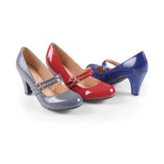 9d2f37f8b45 Brinley Co Womens Mary Jane Patent Leather Pumps ( )
