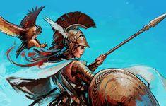 Gods of the Greek Mythology - Athena — Steemit Greek Mythology Tattoos, Greek Mythology Art, Roman Mythology, Fantasy Characters, Female Characters, Guerrero Tattoo, Athena Tattoo, Greek Warrior, Woman Warrior
