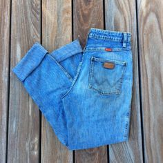 55b7e631 Darling Pair Of Wrangler Jeans In Their Classic Bootcut Style. Depop