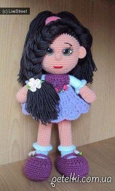 Вязаная кукла крючком. Как вязать