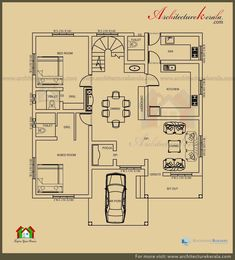 Dream House Floor Plan Maker with Bungalow House Plans E Bedroom Floor Plan Six Split with Two 2bhk House Plan, Bungalow House Plans, New House Plans, Story House, Dream House Plans, Small House Plans, House Floor Plans, 1 Bedroom House Plans, 30x40 House Plans