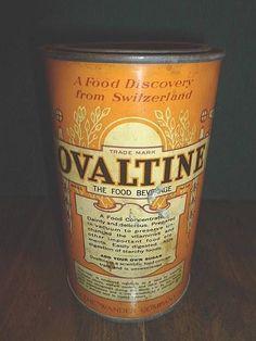 Vinatge 1921 Ovaltine Tin With Original Lid 14oz Size The Wander Company-BL