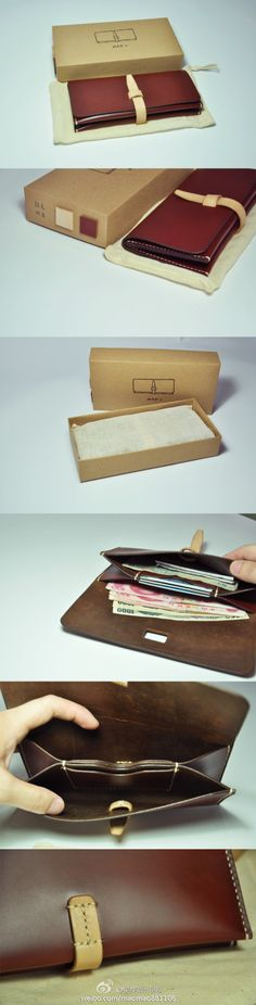 carteira (wallet/clutch) - clever card holder in the middle! Leather Purses, Leather Wallet, Leather Bag, Diy Sac, Ideias Diy, Kate Spade Wallet, Leather Projects, Small Leather Goods, Leather Design
