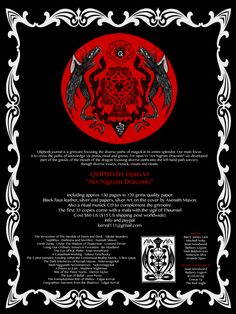 The new Qliphoth book includes my music, illustrations and essay The Eye of Thalin. This is the result of my own and others' work with The Grimoire of ZAL and includes aspects of Universe-B/The Nightside, Austin Osman Spare, Ojas-Rays, Choronzon and Baphomet together with the practical Rite of M'nddez. Order your copy today from Sirius Limited Esoterica (kerval111@gmail.com). Flyer design by Sean Woodward - seanwoodward.com
