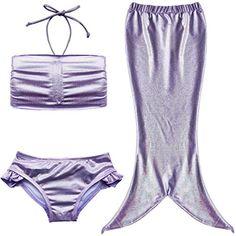 TIAOBU Girls 3PCS Halter Swimmable Mermaid Tail Sea-maid Swimsuit Fancy Costume Size 3-4 Purple TIAOBU http://www.amazon.com/dp/B015187KPI/ref=cm_sw_r_pi_dp_oVhRwb178YAW9