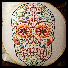 Calavera del Día de los muertos- need a pattern!